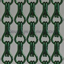 Aluminium groen fliegenvorhang uni