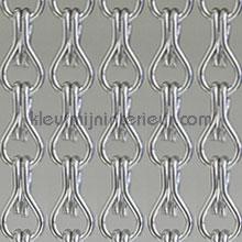 Aluminium zilver fliegenvorhang uni