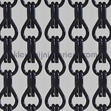 Aluminium zwart vliegengordijnen Vliegengordijnexpert Aluminium ketting Uni