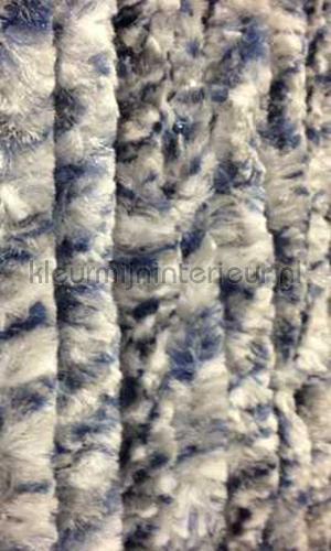 kattenstaart grijs blauw wit gemeleerd cortinas de tiras KAT 7 -grijs blauw wit gemeleerd cola de gato