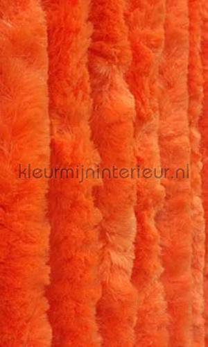 kattenstaart oranje cortinas antimoscas KAT13 - oranje effen cats tail