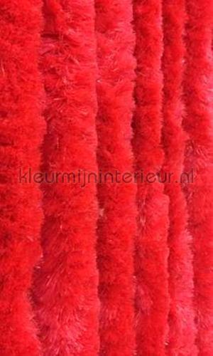 kattenstaart rood cortinas de tiras KAT12 - rood effen cola de gato