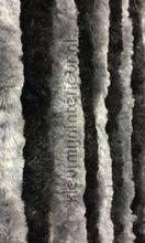 Kattenstaart zwart grijs om en om vliegengordijnen kattenstaart