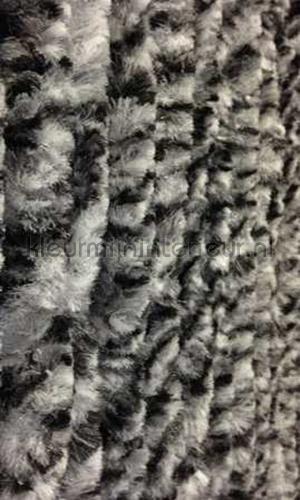 kattenstaart zwart wit gemeleerd cortinas de tiras KAT 8 - zwart wit gemeleerd cola de gato