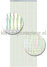 multicolor transparant vliegengordijnen 011 koral multi ? kralen
