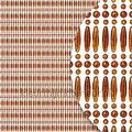 koral transparant bruin recht miçangas cortinas antimoscas