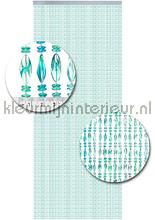 chios turquoise transparant vliegengordijnen kralen