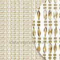 chios champagne transparant miçangas cortinas antimoscas