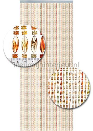 chios bruin transparant cortinas antimoscas miçangas