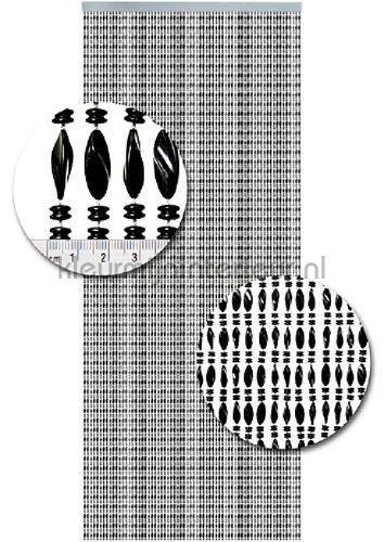 chios zwart cortinas antimoscas miçangas