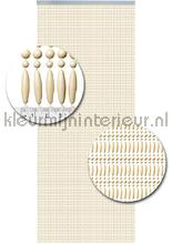 koral uni creme kralengordijn cortinas antimoscas kralen beige recht miçangas