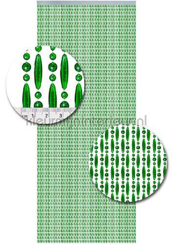 koral transparant groen verspringend vliegengordijnen kralen transparant groen verspringend Kleurmijninterieur
