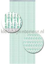 koral transparant turquoise verspringend vliegengordijnen kralen transparant turquoise verspringend