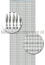 Koral zilver metallic recht cortinas antimoscas Kralen zilver metallic recht miçangas Kleurmijninterieur