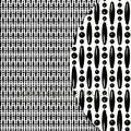 Koral zwart verspringend miçangas cortinas antimoscas